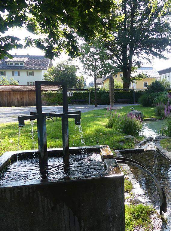 Brunnen im Kurpark Oberaudorf