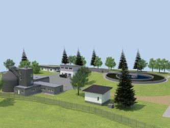 Modellzeichnung zur geplanten Kläranlage Oberaudorf