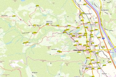 Übersichtskarte Stromversorgung Oberaudorf
