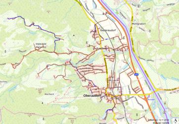 Übersichtskarte Einzugsgebiet Abwasser Oberaudorf