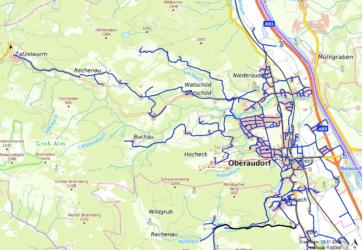 Übersichtskarte Wasserversorgung Oberaudorf